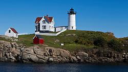 Cape Neddick Lighthouse / Nubble Light, Cape Neddick, York Beach, York, Maine, United States of America