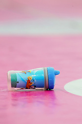 06 July 2013:  A zippy cup lies on its side dripping liquid