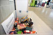 Nederland, Ubbergen, 27-1-2014In de lokale Plus supermarkt staat een bak waarin mensen nadat ze boodschappen hebben gedaan iets kunnen geven aan de voedselbank.Foto: Flip Franssen/Hollandse Hoogte