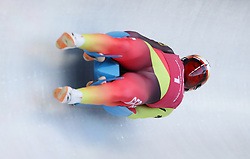 Germany's Toni Eggert and Sascha Benecken during the Men's Double Luge practice during day three of the PyeongChang 2018 Winter Olympic Games in South Korea. PRESS ASSOCIATION Photo. Picture date: Monday February 12, 2018. See PA story OLYMPICS Luge. Photo credit should read: David Davies/PA Wire. RESTRICTIONS: Editorial use only. No commercial use.