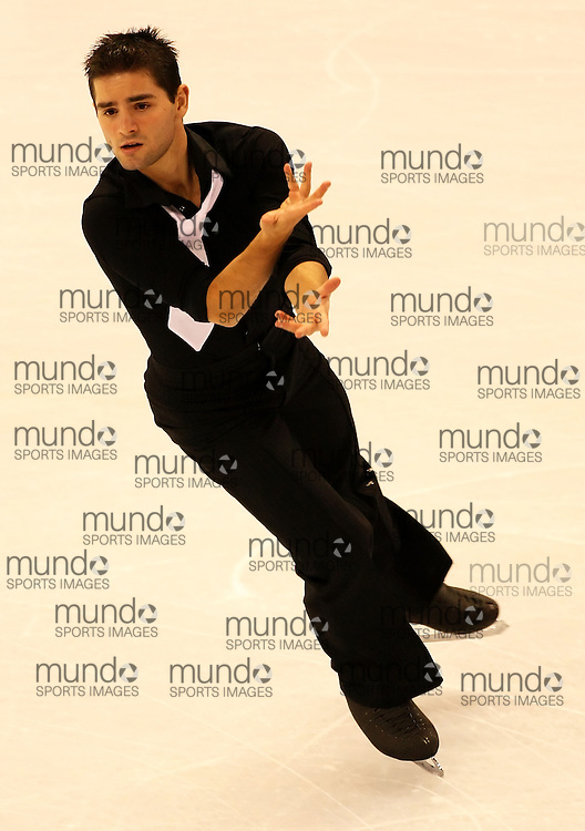(Ottawa, ON---1 November 2008)  Yannick Ponsero of France compete in the men's free skate at the 2008 HomeSense Skate Canada International figure skating competition. He finished fourth. Photograph copyright Sean Burges/Mundo Sport Images (www.msievents.com).