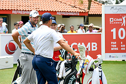 October 13, 2018 - Kuala Lumpur, Malaysia - Marc Leishman(L) of Australia in action during the third round of the CIMB Classic at TPC Kuala Lumpur on 13 .October, 2018 in Kuala Lumpur, Malaysia  (Credit Image: © Chris Jung/NurPhoto via ZUMA Press)