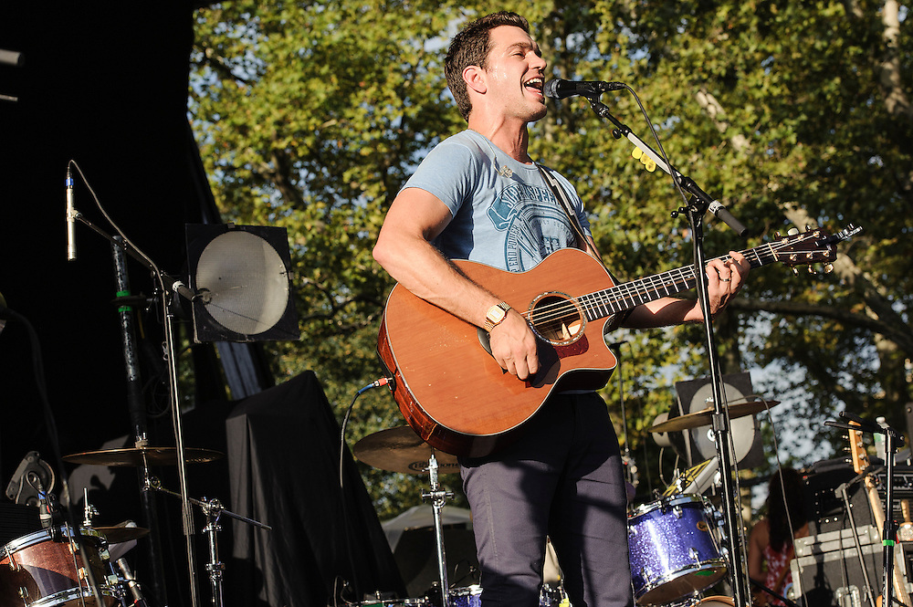 "Photos of the musician Andy Grammer performing live on the ""California 37 World Tour"" at Central Park SummerStage at Rumsey Playfield, NYC. August 27, 2012. Copyright © 2012 Matthew Eisman. All Rights Reserved."