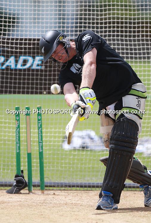 New Zealand batsman Scott Styris at a training session at Nelson Park, Napier, Monday 31 January 2011. Photo: Andrew Cornaga/photosport.co.nz