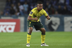 October 21, 2017 - Porto, Porto, Portugal - Pacos Ferreira's Brazilian forward Welthon celebrates after scoring goal during the Premier League 2017/18 match between FC Porto and FC Pacos de Ferreira, at Dragao Stadium in Porto on October 21, 2017. (Credit Image: © Dpi/NurPhoto via ZUMA Press)