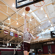 December 16, 2016 - New York, NY : Danielle Padovano, a senior forward for the Fordham University Women's Basketball Team, center, practices with the team in Rose Hill Gymnasium on Friday. CREDIT: Karsten Moran for The New York Times