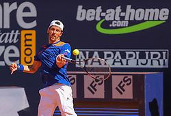 31.07.2013, Sportpark, Kitzbuehel, AUT, ATP World Tour, bet at home Cup 2013, Einzel Achtelfinale, im Bild Tennisspieler Juergen Melzer (AUT) während seiner Zweitrunden-Partie gegen Dominic Thiem (AUT) // during best of sixteen of bet at home Cup 2013 tennis tournament of the ATP World Tour at the Sportpark in Kitzbuehel, Austria on 2013/07/31. EXPA Pictures © 2013, PhotoCredit: EXPA/ Eibner/ Kroha<br /> <br /> ***** ATTENTION - OUT OF GER *****