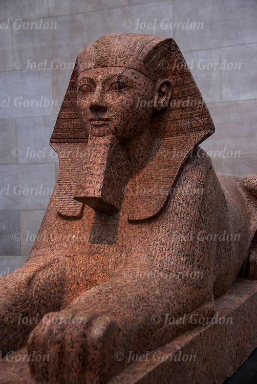 Egyptian Sphinx in the Egyptian Art Gallery in The Metropolitan Museum of Art (MET)<br /> <br /> The sphinx is a mythical creature with, as a minimum, the head of a human and the body of a lion.