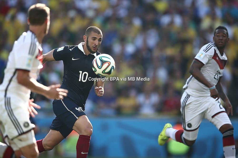 Karim Benzema. France v Germany, quarter-final. FIFA World Cup Brazil 2014. 4 July 2014