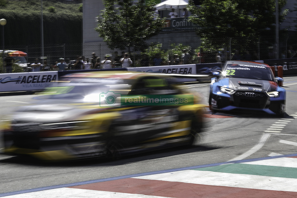 June 23, 2018 - Vila Real, Vila Real, Portugal - Frederic Vervisch from Belgium in Audi RS 3 LMS of Audi Sport Team Comtoyou (R) in action during the Race 1 of FIA WTCR 2018 World Touring Car Cup Race of Portugal, Vila Real, June 23, 2018. (Credit Image: © Dpi/NurPhoto via ZUMA Press)