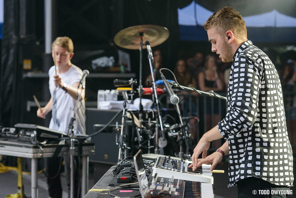 Disclosure photographed at Lollapalooza at Grant Park in Chicago on Friday, August 2, 2013.