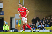 Charlton Athletic midfielder Andrew Crofts (8) scores to equalise 1-1 during the EFL Sky Bet League 1 match between Southend United and Charlton Athletic at Roots Hall, Southend, England on 31 December 2016. Photo by Jon Bromley.