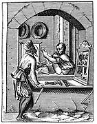Wire Worker. From 16th century woodcut by Jost Amman.