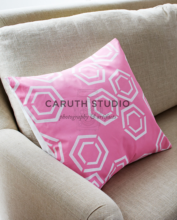 Living room paint projects, stenciled pillow cover