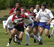 © Peter Spurrier / Intersport images.email images@intersport-images.com.21/6/03 Photo Peter Spurrier.Imber Court - Esher - Surrey.IRB U21 Rugby World Cup - Iffley Road - Oxford .Italy v Japan.Tomoki Yoshida breaks with the ball.
