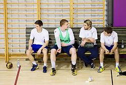 Simon Razgor, Matej Gaber, Dean Bombac and Sebastian Skube during the Training Camp before IHF Men's Handball World Championship Spain 2013 on January 9, 2013 in Zrece, Slovenia. (Photo By Vid Ponikvar / Sportida.com)