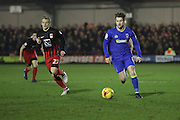AFC Wimbledon midfielder Jake Reeves (8)  during the EFL Sky Bet League 1 match between AFC Wimbledon and Coventry City at the Cherry Red Records Stadium, Kingston, England on 14 February 2017. Photo by Stuart Butcher.