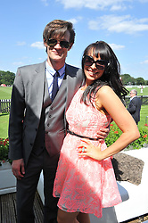 MATT SMITH and his sister LAURA JAYNE SMITH at the Audi International Polo Day held at Guards Polo Club, Smith's Lawn, Windsor on 22nd July 2012.