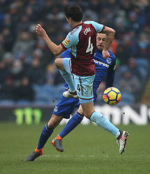 Jack Cork of Burnley (L) and Gylfi Sigurdsson of Everton in action - Mandatory by-line: Jack Phillips/JMP - 03/03/2018 - FOOTBALL - Turf Moor - Burnley, England - Burnley v Everton - English Premier League