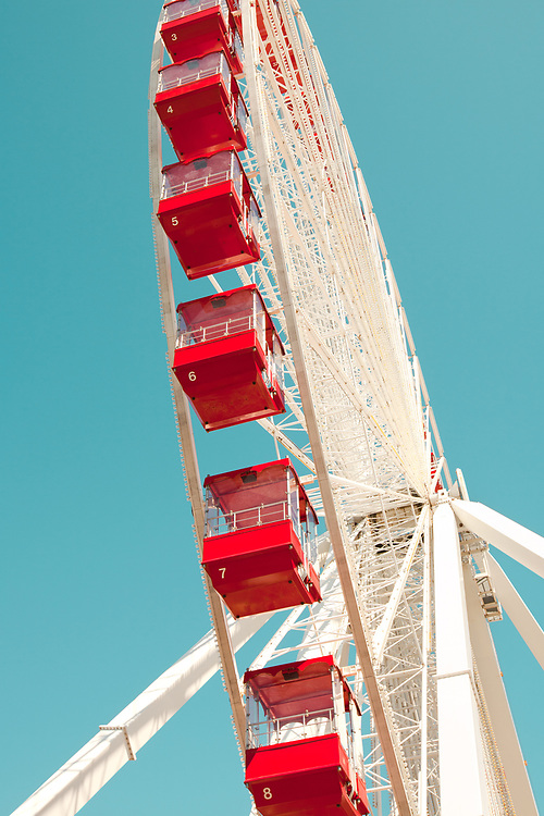 Empty Ferris Wheel at Chicago, Illinois, USA