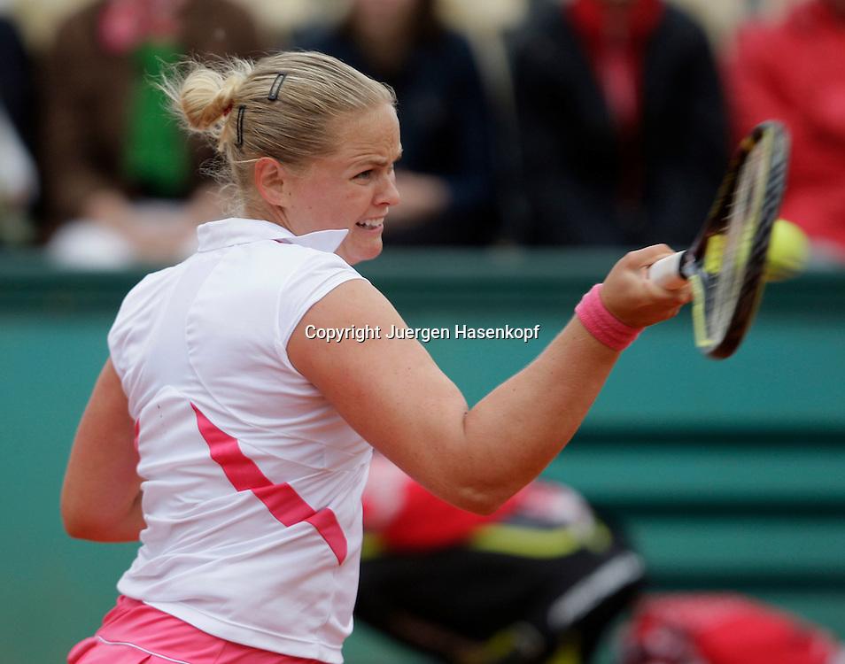 French Open 2009, Roland Garros, Paris, Frankreich,Sport, Tennis, ITF Grand Slam Tournament,.Anna-Lena Groenefeld (GER) spielt eine Vorhand,forehand,action...Foto: Juergen Hasenkopf..