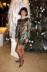 Ballerina DARCEY BUSSELL at a Christmas party to celebrate the 225th Anniversary of Asprey held at their store 167 New Bond Street, London on 7th December 2006.<br />
