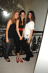Left to right,    ,    and LADY NATASHA RUFUS-ISAACS at a party to launch the new upstairs area of Mamilanji, 107 Kings Road, London SW3 on 19th April 2007.<br />