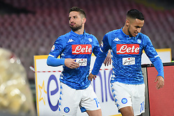 December 29, 2018 - Naples, Naples, Italy - Dries Mertens of SSC Napoli celebrates after scoring during the Serie A TIM match between SSC Napoli and Bologna FC at Stadio San Paolo Naples Italy on 29 December 2018. (Credit Image: © Franco Romano/NurPhoto via ZUMA Press)