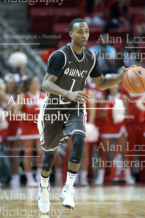 03 November 2013:  Ja'Mil Jones during an mens exhibition basketball game between the Quincy Hawks and the Illinois State Redbirds in Redbird Arena, Normal IL