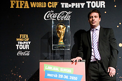 Ales Zavrl of NZS at VIP reception of FIFA World Cup Trophy Tour by Coca-Cola, on March 29, 2010, in BTC City, Ljubljana, Slovenia.  (Photo by Vid Ponikvar / Sportida)