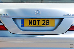 © licensed to London News Pictures. London, UK  04/05/11 Spotted in London today, two cars parked next to each other with the number plates reading '2 BE' and 'NOT 2B'. Please see special instructions for usage rates. Photo credit should read AlanRoxborough/LNP