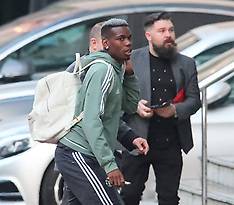 Manchester United players sighted outside hotel - 15 April 2018