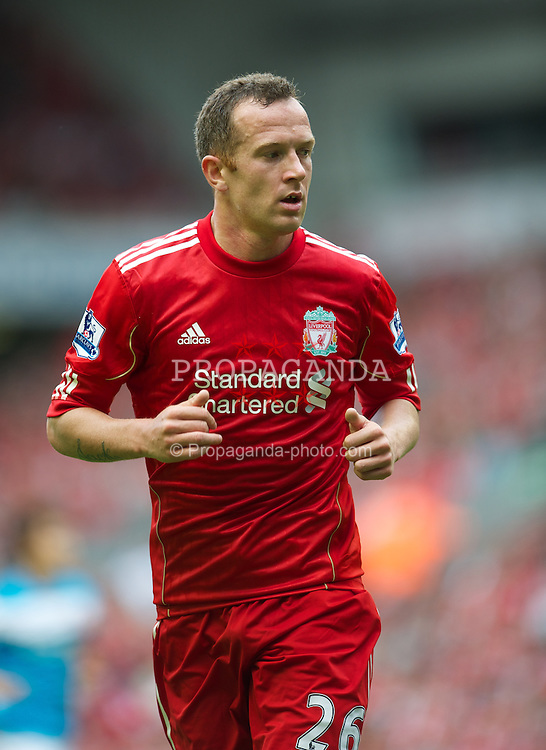 LIVERPOOL, ENGLAND - Saturday, August 13, 2011: Liverpool's Charlie Adam in action against Sunderland during the Premiership match at Anfield. (Pic by David Rawcliffe/Propaganda)
