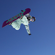 Juan Sun, China, in action during the Ladies Half Pipe Finals in the LG Snowboard FIS World Cup, during the Winter Games at Cardrona, Wanaka, New Zealand, 28th August 2011. Photo Tim Clayton..