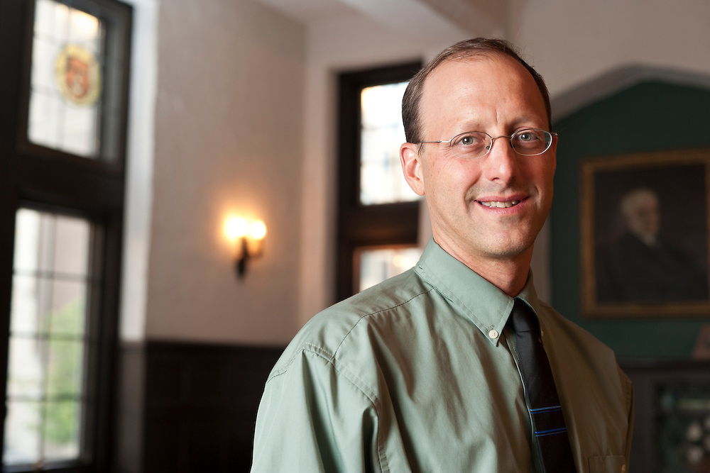 Todd W. Reeser, professor of French and Italian language and literature at the University of Pittsburgh, is pictured at the University Club in Madison, Wis., on Sept. 12, 2012. (Photo by Jeff Miller, www.jeffmillerphotography.com)