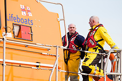 The RNLB Frederick William Plaxton, a Shanon Class Lifeboat, is recovered by her launch and recovery tractor from South Beach Scarborough and returned to the towns Lifeboat house<br /> <br />   17 February 2019<br />   Copyright Paul David Drabble<br />   www.pauldaviddrabble.co.uk The RNLB Frederick William Plaxton, a Shannon Class Lifeboat, is recovered by her launch and recovery tractor from South Beach Scarborough and returned to the towns Lifeboat house<br /> <br />   17 February 2019<br />   Copyright Paul David Drabble<br />   www.pauldaviddrabble.co.uk