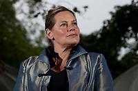 A portrait of Deborah Levy at the Edinburgh International Book Festival 2012 in Charlotte Square Gardens<br /> <br /> Pic by Pako Mera