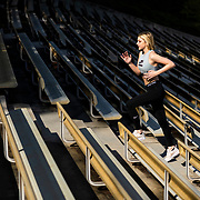 Brooke Kromer poses for a fitness shoot on the UCLA campus on Thursday, Feb. 28, 2019 in Los Angeles
