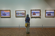 Monet's Stacks of Wheat also know as Haystacks at the Art Institute in Chicago, IL, USA.