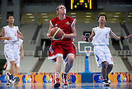 Male's basketball match between SO France and SO China while basketball tournament during 2011 Special Olympics World Summer Games Athens on June 27, 2011..The idea of Special Olympics is that, with appropriate motivation and guidance, each person with intellectual disabilities can train, enjoy and benefit from participation in individual and team competitions...Greece, Athens, June 27, 2011...Picture also available in RAW (NEF) or TIFF format on special request...For editorial use only. Any commercial or promotional use requires permission...Mandatory credit: Photo by © Adam Nurkiewicz / Mediasport