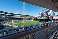 The view from the Great Clips seats in right field on Opening Day 2013, Minnesota Twins vs. Detroit Tigers on April 1, 2013 at Target Field in Minneapolis, Minnesota.  The Tigers defeated the Twins 4 to 2.  Photo: Ben Krause