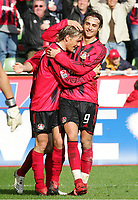 Jubel 4:1 v.l. Clemens Fritz, Dimitar Berbatov Leverkusen<br /> Bundesliga Bayer 04 Leverkusen - 1.FC Kaiserslautern 5:1