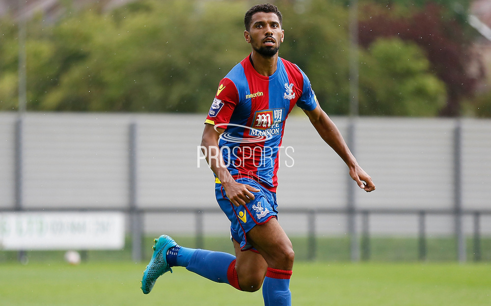 Luke Croll in action during the Final Thirds Development League match between U21 Crystal Palace and U21 Watford at Selhurst Park, London, England on 24 August 2015. Photo by Michael Hulf.