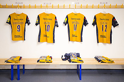 Bristol Rugby changing room - Rogan Thomson/JMP - 04/03/2017 - RUGBY UNION - Sixways Stadium - Worcester, England - Worcester Warriors v Bristol Rugby - Aviva Premiership.