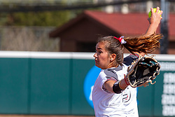 NORMAL, IL - April 06: Ali Domkuski during a college women's softball game between the ISU Redbirds and the University of Northern Iowa Panthers on April 06 2019 at Marian Kneer Field in Normal, IL. (Photo by Alan Look)