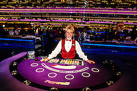 Blackjack Dealer, Peppermill Hotel Casino, Reno, Nevada USA