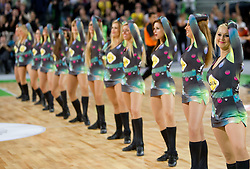 Dragon Ladies, cheerleaders of Olimpija during basketball match between KK Union Olimpija (SLO) and Efes Pilsen (Tur) in Group D of Turkish Airlines Euroleague, on October 20, 2010 in SRC Stozice, Ljubljana, Slovenia. Union Olimpija defeated Efes Pilsen after 2 overtimes 95 - 90.(Photo By Vid Ponikvar / Sportida.com)