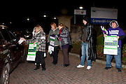 Grenoside Grange Hospital, Unison members on the TUC Day of Action 30th November, Sheffield .