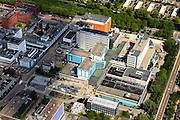 Nederland, Noord-Holland, Amsterdam, 14-06-2012; Nederlands Kanker Instituut - Antoni van Leeuwenhoek Ziekenhuis (NKI-AVL). Links Sanquin Bloedvoorziening (bloedbank)...QQQ..luchtfoto (toeslag), aerial photo (additional fee required).foto/photo Siebe Swart