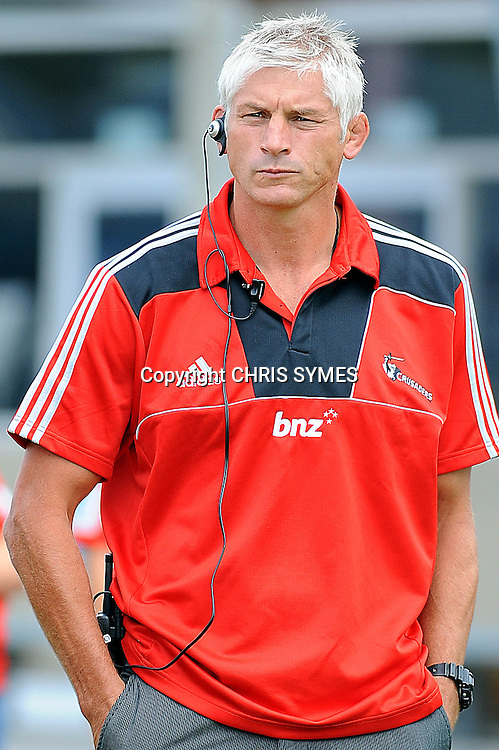 Crusaders head coach Todd Blackadder during their Super Rugby Pre-season game Crusaders v Highlanders. Rugby Park, Greymouth, New Zealand. Friday 3 February 2012. Photo: Chris Symes/www.photosport.co.nz